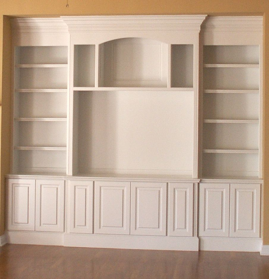Built In Shelving Unit And Cabinet System