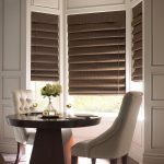 Cool brown Bali cellular roller shades target classic comfortable dining room beige dining chairs brown wooden round dining table beautifuldecorative flower