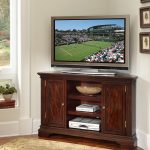 Corner TV desk with storage system in classic style classic area rug a flat TV