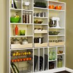 Doorless cabinet system for storing kitchen supplies