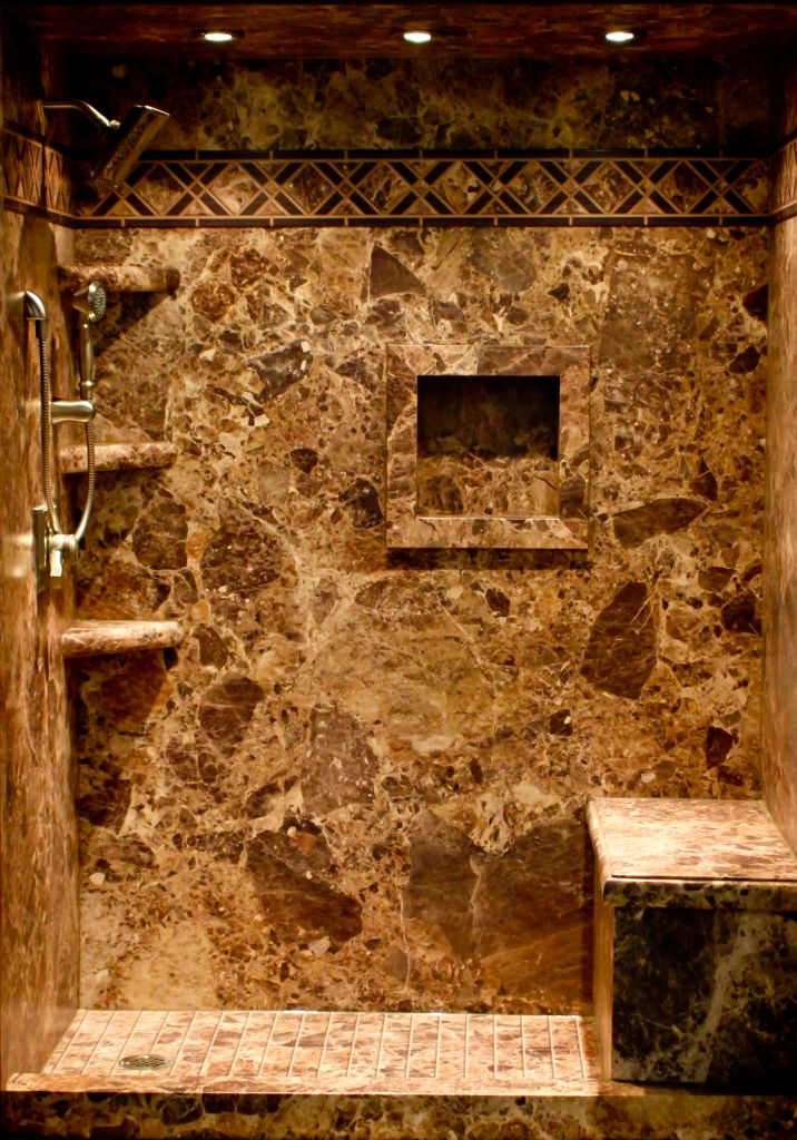 Stone Shower Walls: An Instant Trick to Transform A \'Flat\' Shower ...