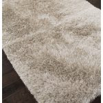 Earthy color shag rug from IKEA