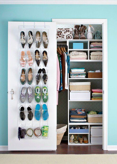 Organization Ideas For Small Closets Part - 16: Effective And Smart Solution For Small Closet Storage