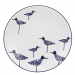Elegant flat round plate as dining dishware