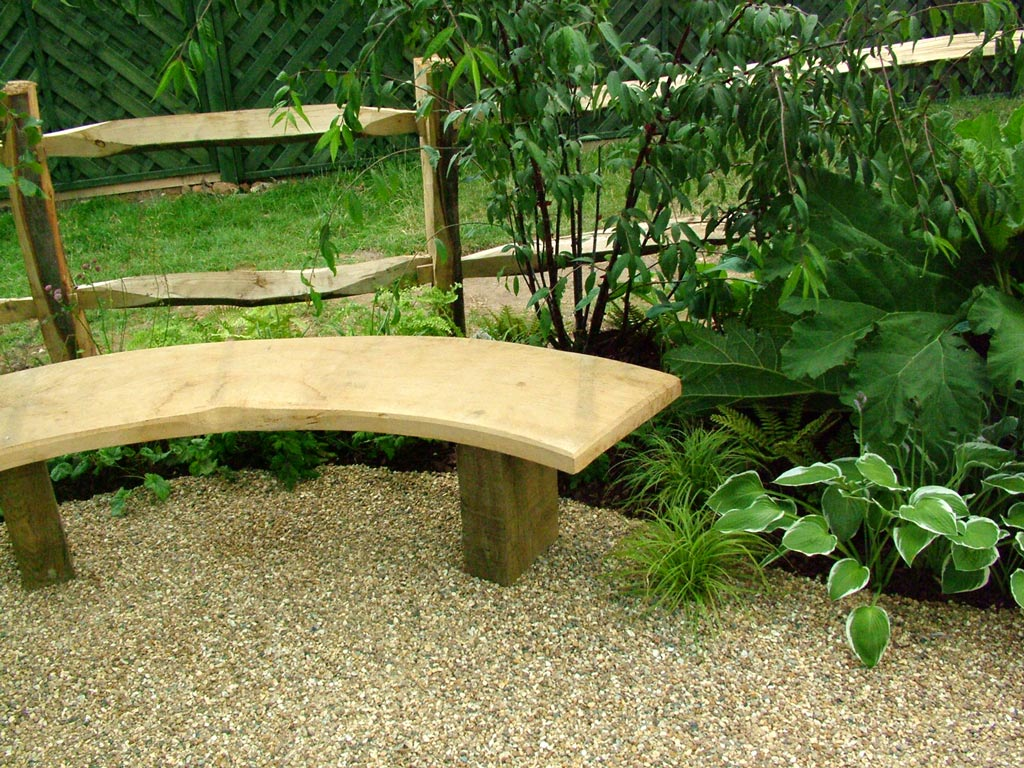 curved garden bench. Flat And Curved Wood Bench Idea For Gardens Garden
