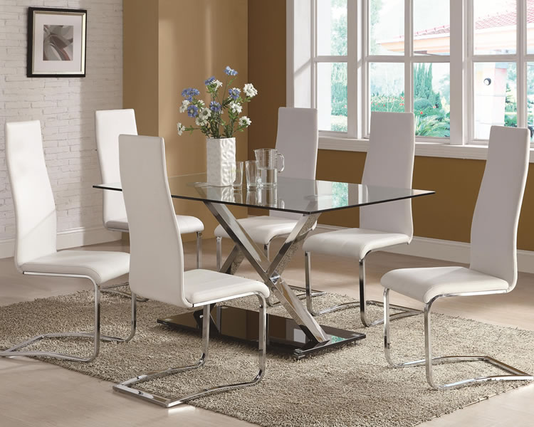 Glass Dining Tables. Modern Glass Dining Room Tables Photo Of Well ...