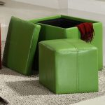 Fresh and cool green ottoman chairs with storage for linens white wool area rug