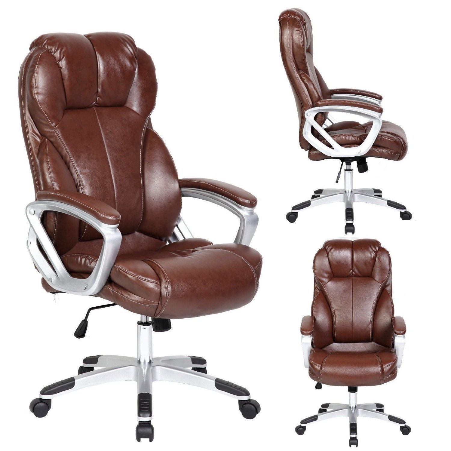 High Back Executive PU Leather Ergonomic Chair O10 brown high back leather office chair  sc 1 st  HomesFeed & 3 Best affordable office chairs under $100 | HomesFeed