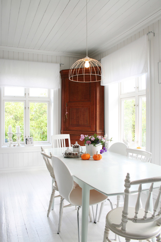 Higher Corner Wooden Hutch Idea For A Dining Room A Set Of Dining Furniture  In White