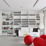 Interior Design For Dummies Contrast In Interior Design Black White Tones Living Room With Bold Red Sofa And Ball