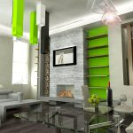 Interior Design for Dummies contrast in interior design shocking green wall and ceiling accents modern living room