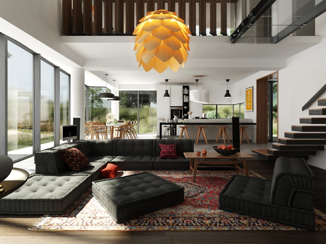 Interior Design for Dummies focal point in interior design cool black  modular sofa unique lotus hanging