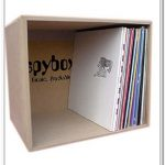 Lightweight wood box for organizing the record collections