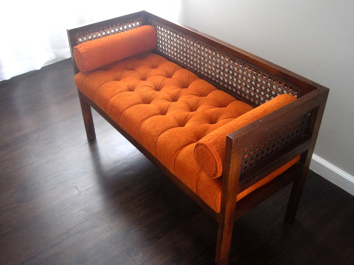 Long upholstered bench ideas homesfeed Bench sofa