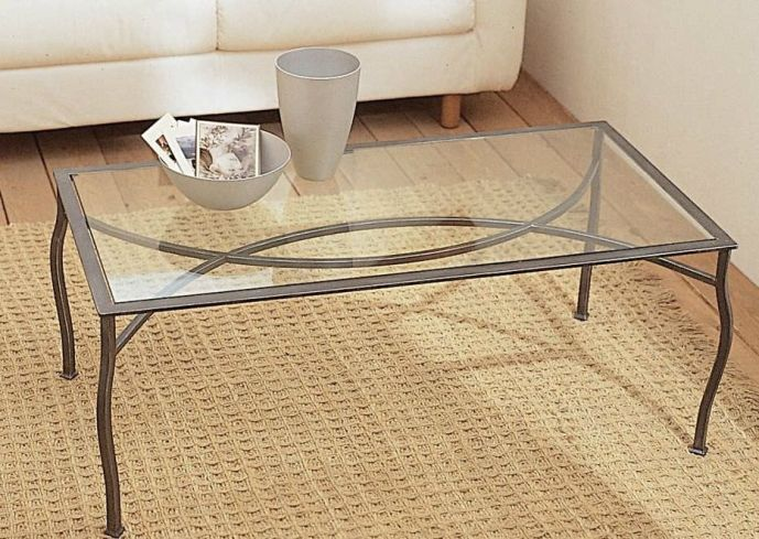 Glass and metal coffee tables homesfeed Steel and glass coffee table
