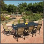 Modern metal furniture for patio black metal table