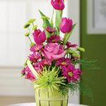 Morning Glow Garden beautiful pink meet green leaves unusual flower arrangements