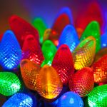 Multicolors lighting items as christmas tree ornaments