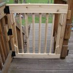 No stain wooden safety kids installed for outdoor staircase