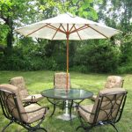 Outdoor patio furniture with cushion round glass table for patio huge umbrella as patio shade