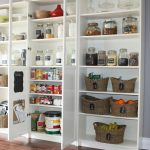 Pantry storage idea in big size and in white color