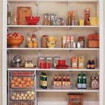 Pantry storage idea metal wire basket for storing eggs and potatoes