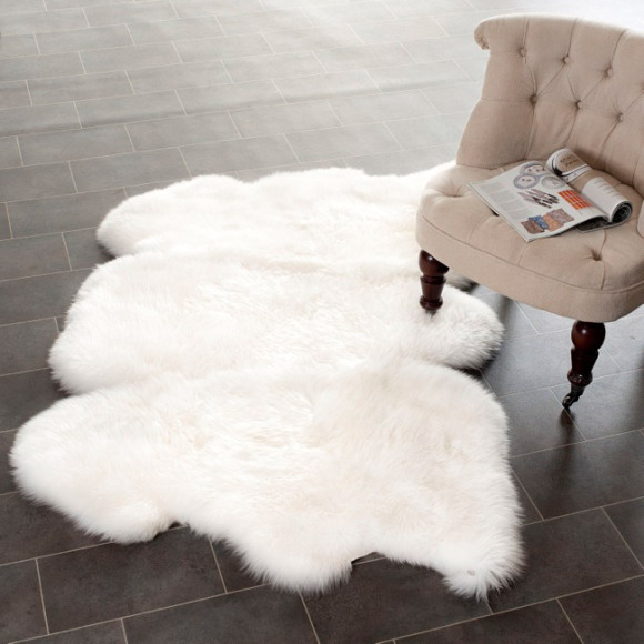 Pure White Ikea Shag Rug A Reading Chair No Armrests