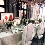 Ralph Lauren Dining Room chandelier table chairs glass