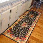 Rug runner for kitchen with beautiful floral pattern