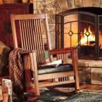 Rustic wood rocking chair idea in mission style