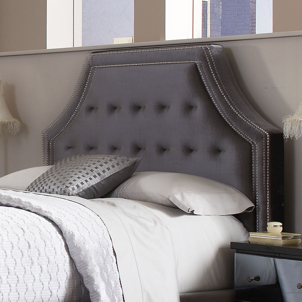 Grey Fabric Headboard In Wide Options Of Design Homesfeed