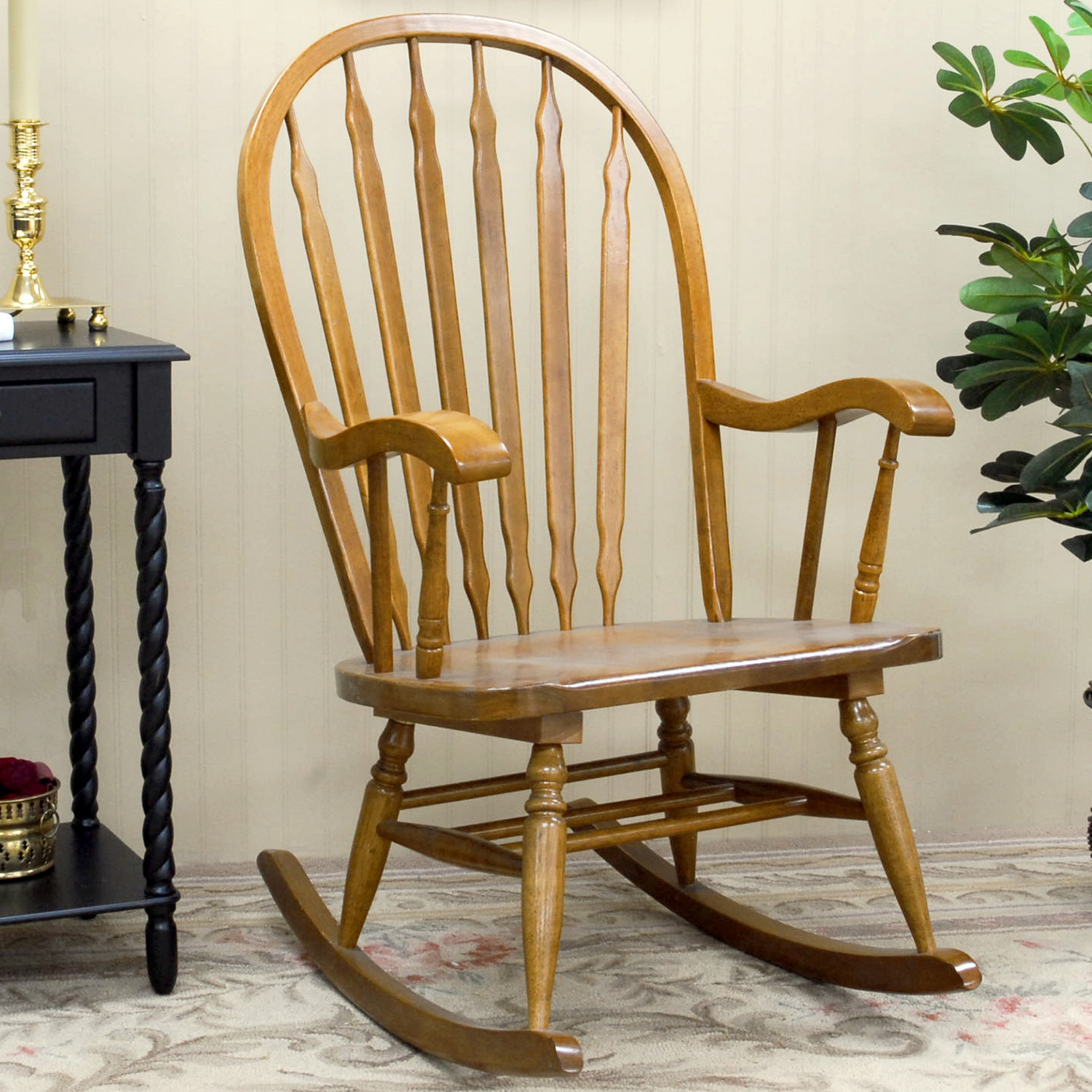 Rocking chair designs - Simple Elegant Rocking Chair Made Of Wood For Indoor