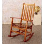 Simple wooden rocking chair in mission style
