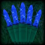 Sweet blue lighting fixtures as christmas tree decoration