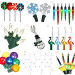Various models of Phillips Christmas light fixtures