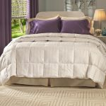 White Big Comforter Brown and Purple Pillow Window Shader Decorative Rug Design