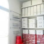 White boxes arrangement as smart alternative storage solution wall metal kits