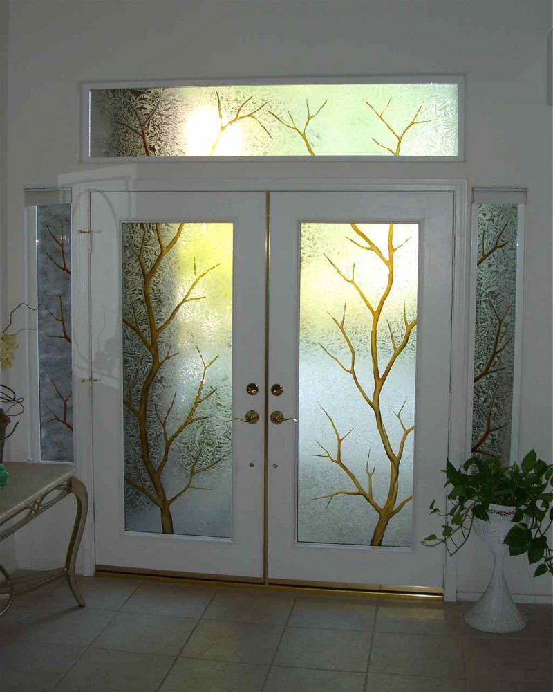 Unique inspiration stained glass interior doors homesfeed for Door n window designs