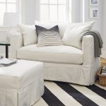 Willow Twin Sleeper from Crate & Barrel modern white twin size sofa sleeper foe extra sleeping spacesolution