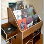 Wooden record storage idea for organizing record collections