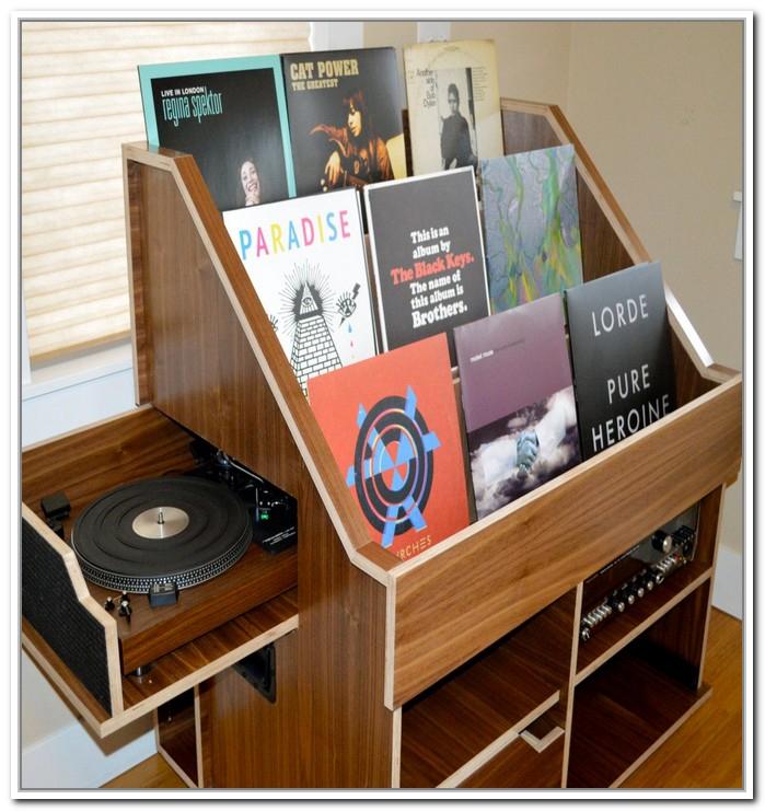record storage ideas homesfeed. Black Bedroom Furniture Sets. Home Design Ideas