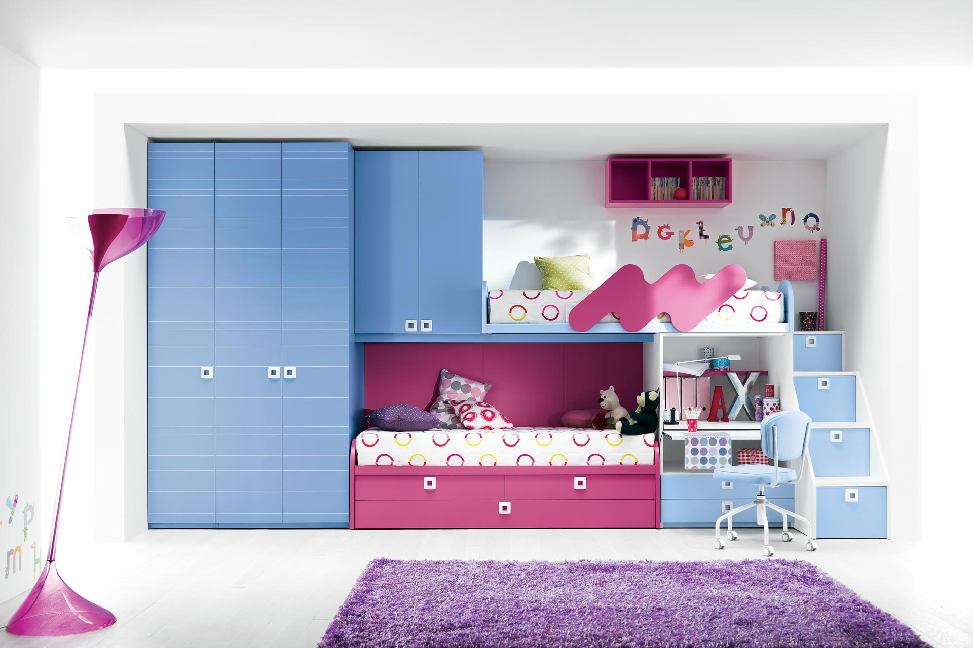 Small Room With Bunk Beds. Good Bedroom Room Designs For Teens ...