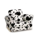 adorable cow print chair design with no legs with armless and backrest for luxurious seating