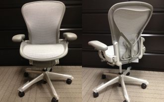 adorable dull white herman miller aeron chair parts idea with curved backrest and short armrest and spider legs and black wheels