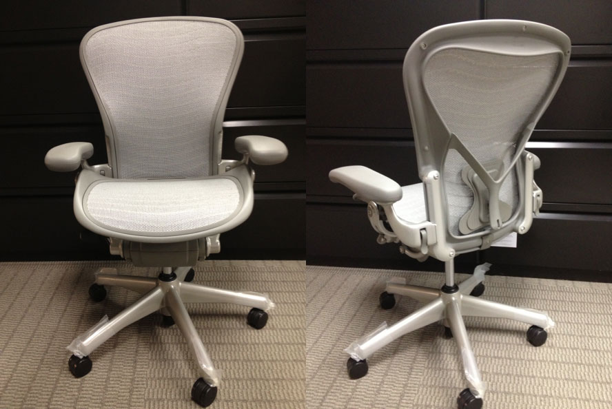 adorable dull white herman miller aeron chair parts idea with curved backrest and short armrest and - Herman Miller Aeron Chair
