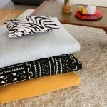 adorable floor pillows ikea design in gray patterned black and yellow color on furry rug aside wooden table