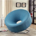 adorable geometrical papasan chair ikea design in blue color like tube with stainless steel round base