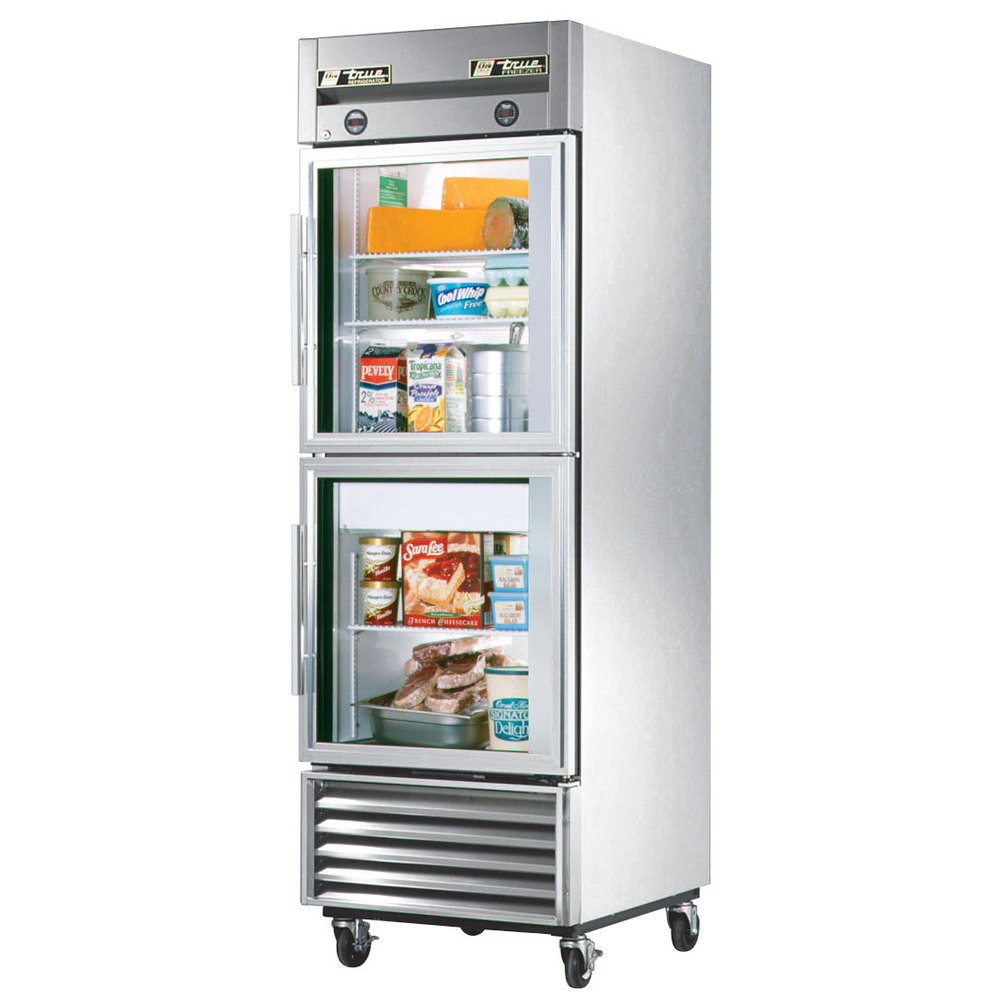 Glass Door Refrigerators Residential : Stylish design of glass door refrigerator residential that