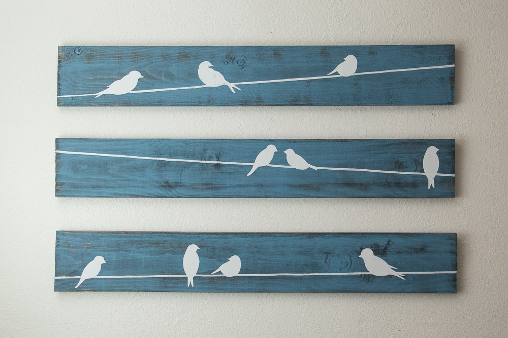 Birds on Wire Wall Art Optimize Every Inch of Interior with Natural ...