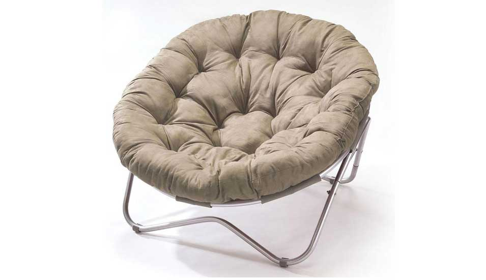 Lovely Adorable White Modern Papasan Chair Ikea With Metal Stars Shaped Leg With  Tuft Pattern